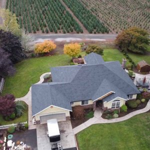 top-front-view-of-completed-shingle-installed-roof-on-estacada-home