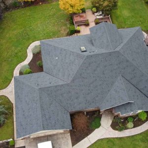 top-view-of-completed-shingle-installed-roof-on-estacada-home